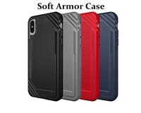"Wholesale wholesale spigen - Glossy Spigen Rugged Soft Armor Case for iPhone X 5.8"" Resilient Shock Absorption and Carbon Fiber Design Cover"