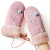 gants coréens mitaines achat en gros de-Gants mitaines Creative version coréenne des gants hiver mitaines en daim chaudes gants coupe-vent hiver