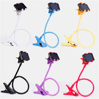 Wholesale flexible arm clamp resale online - Universal phone holder Rotating Flexible Long Arm lazy Phone Holder Clamp Lazy Bed Tablet Car Selfie Mount Bracket for Phone