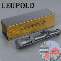 aydınlatılmış taktik kapsam toptan satış-LEUPOLD 1.5-5X20 Optik Riflescope Avcılık Kapsam Mil-dot Işıklı Taktik Airsoft Hava Tüfekler Için Riflescopes