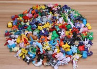 Wholesale japanese children figures - 144 Pcs lot 2-3 cm Toys For Children Pikachu Action Figure Toys Japanese Cartoon Anime Mini Collections Birthday Gifts Cartoon doll toy