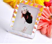 marco plástico de la foto llaveros personalizados al por mayor-Llaveros de acrílico en blanco del rectángulo Inserte los llaveros de la foto (llavero) 1.5