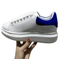 plattform schnüren sich oben schuh großhandel-Designer Bunte Damen Herren Sneakers Schuhe Komfort Freizeitschuhe Plattform Red Bottom Mqueen Schuhe Leder Schnürschuh Oxford Leder Kleid Schuh