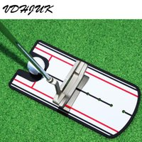 Wholesale Golf Alignment Training Aids - Drop shipping Golf Swing Straight Practice Golf Putting Mirror Alignment Training Aid Swing Trainer Eye Line Accessories