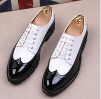 Rabatt Weiße Brogue Schuhe   2019 Weiße Brogue Schuhe im