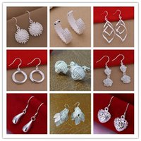 Wholesale 925 rings for girl - Wholesale 30pcs lot 925 Sterling Silver Multi Styles Charms Rings For Women Gift for Girls Finge Rings Mix size & Mix order Hot Sale