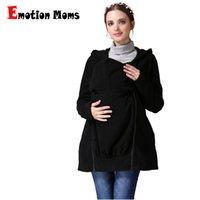 2d9d20c97cc1245 Emotion Moms Winter Breastfeeding Nursing tops Многофункциональное  материнское пальто Kangaroo coat для беременной куртки Одежда для беременных