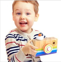 Wholesale wood photography props - Simulation Cameras Kaleidoscope Kid Toys Photography Take Photo Prop Decoration Articles Wooden Camera Children Gift 11yt C R