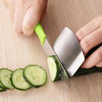bıçak kesici parmak koruyucusu toptan satış-Yeni Parmak Koruma Parmak El Incitmek Değil Korumak Kesim Paslanmaz Çelik El Koruyucu Bıçak Kesme Parmak Koruma Araçları DHL Ücretsiz WX-C34