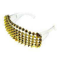 neue spikes großhandel-Handgemachte großhandel New Rivet Spike Dekoration Wild Rock Punk Sonnenbrille Brille Coole Mode Bühne Bar Party Sonnenbrille NX