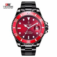 relojes de marca tevise al por mayor-fantasma marca TEVISE Relogio Automatico Masculino Los hombres relojes mecánicos de agua a prueba de agua Moda Sport Business reloj masculino reloj