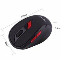 receptor de juego inalámbrico al por mayor-HXSJ X40 Game Mouse 2400DPI ABS 2.4GHz Wireless 6 botones Ratón óptico para juegos con receptor USB para computadora de escritorio portátil Nuevo
