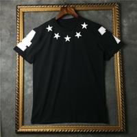 ingrosso corti blu stella-2017 estate moda marchio di lusso tag abbigliamento uomo t-shirt stella 47 manica corta t-shirt blu stella 47 cotone Designer t-shirt top tee