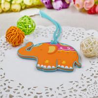 ingrosso regali di regalo per bambini-SPEDIZIONE GRATUITA (100pcs / lot) + Lucky Elephant Tag Bagagli Baby Shower Favori della festa nuziale omaggi regalo per gli ospiti