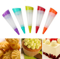 Wholesale Silicone Cake Decorating Pen - Silicone Cake Pen Cream Cake Decorator DIY Pastry Piping Pen Chocolate Decorating Tools Kitchen Accessories 4 Colors YW639
