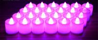 sarı led mumlar toptan satış-LED Tealight Çay Mumlar Alevsiz Işık renkli sarı Pil Kumandalı Düğün Doğum Günü Partisi Noel Dekorasyon