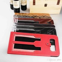 Wholesale wine gift boxes packaging resale online - Practical Gift Packaging Bag Leather Double Red Wine Pouch Anti Wear Hollow Out Design Storage Bags Portable jx cc