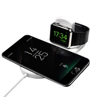 Wholesale branded watch mobile phones online – Iwatch wireless charger iphone Samsung mobile phone watch in wireless charger universal smart phone wireless charger