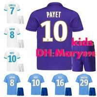 Wholesale marseille football kit - Best quality 2017-18 Marseille White soccer jersey kids kits 2018 PAYET THAUVIN GERMAIN L.GUSTAVO RAMI CABELLA Child Football shirt