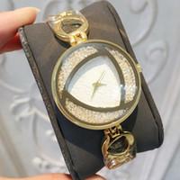 kız kalitesinde takı toptan satış-2019 lüks altın kadınlar İzle Kadın moda elbise kol tam elmas Takı kız hediye parti saat yüksek kalite Relojes De Marca Mujer