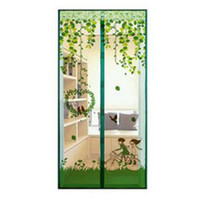 Mosquito Net Screen Door Mesh Screen Curtain Door Curtain Net Four Color  Summer Vertical Biparting Open EJ973430