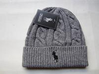 Wholesale mens wool knit winter hats resale online - 2018 Newest Unisex Spring Winter Hats for Men Mens Beanie Wool Hat Man Knit Bonnet Polo Beanie Gorro Chapeu Knitted Thicken Warm Cap