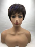 perruques respirantes achat en gros de-ZYR005 Perruques Natual Black Wigs Humain Humain Perruque Fluffy Clair Et Respirant Pour Les Noirs Et Blancs Fabriqué À La Main 100% Cheveux Humains