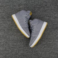 Wholesale Buy Leather Shoe - high Air Retro 1 1s Fly Wolf Grey Man Knit Basketball Shoes Buying Fashion Outdoor Sneaker