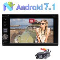 telefone da língua chinesa venda por atacado-Retrovisor Câmera Android 7.1 Car DVD Player Octa-core 2G RAM Sistema Estéreo GPS de Navegação Bluetooth Rádio Touchscreen Multi-OS Idioma USB