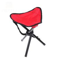 складной стул для треноги оптовых-Портативный складной рыболовный стул - кемпинг туризм складной стул треноги стул сиденье для садоводства Рыбалка пикник барбекю пляж