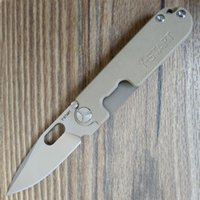 Wholesale y start knives for sale - Group buy Y START LK5009S Bean Knife Outdoor Survival EDC Mini Pocket Knife C Stonewashed blade G10 Titanium Handle ball bearing washer