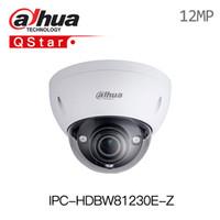 dahua 4k venda por atacado-Dahua 4k 12MP Câmera IP IPC-HDBW81230E-Z IR Dome Network Camera 4,1 milímetros-16,4 milímetros motorizado lente suporte a PoE e um cartão SD IP67 IK10