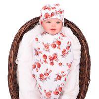 ingrosso coperta bambino swaddle infantile-Neonate Neonato Morbido cotone Cocoon Sacco di sonno Due pezzi Set neonato Neonato Swaddle HT009