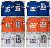 maillots de football florida gators achat en gros de-NCAA Florida Gators College 15 Tim Tebow Jersey Hommes 22 Emmitt Smith 6 Jeff Driskel Maillots de Football Université Broderie Bleu Orange Blanc