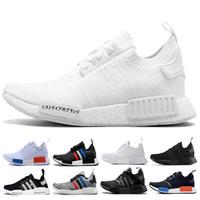 chaussure nmd achat en gros de-2018 New NMD Runner R1 Primeknit Triple black White nmds designer Running shoes For Men Women OREO NMDS Runner Sports sneakers 36-46