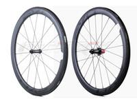 ud räder groihandel-EVO 700C 50mm Breite 25mm Breite Rennrad-Carbonräder Drahtreifen / Rohrrennrad-Carbonlaufradsatz mit UD-Mattlackierung