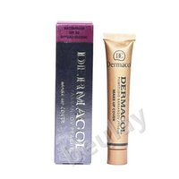 Wholesale Corrector Palette - free shipping for 1 pc Dermacol Brand 30g Concealer Palette Makeup Cover Tatoo Base Foundation Primer Corrector Cream Makeup