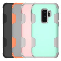 Wholesale Dual Phone Case - For Samsung S9 Plus Case 3in1 Hybrid Dual Layer Heavy Duty Shockproof Phone Cases For Samsung S9 S9plus