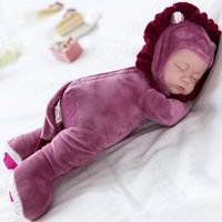 Wholesale interactive baby dolls - 35CM Plush Stuffed Toys Baby Dolls Reborn Doll Toy For Kids Accompany Sleep Cute Vinyl Plush doll Girl Lifelike Kids Toys Gift
