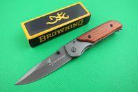 ingrosso coltelli da scatola-Offerta speciale Browning 338 332 Pocket Folding knife Escursionismo da campeggio all'aperto Coltelli da coltello pieghevoli con confezione di carta originale