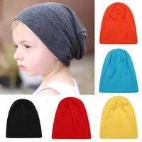 erkek parti şapkaları toptan satış-Yeni bebek çocuklar Şeker renkler şapkalar erkek kız Eğlence kapaklar çocuk Sonbahar Kış sıcak cap başlık caps parti dışında giyim 14 renkler C5241