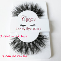 Wholesale true hair - True mink Hair Eyelashes False Eyelashes Full Strip Lashes Hand Made can be reused Fake Lashes mink Hair stock drop shipping private logo