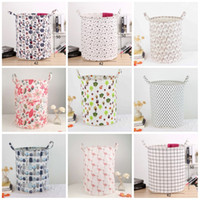 Wholesale dirty laundry clothing for sale - Fashion Printed Washing Hamper Chunky Waterproof Folding Dirty Clothes Basket INS Safety Eco Friendly Laundry Storage Baskets New kk B