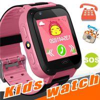 Wholesale anti clock - Q528 Kids Smart Watch Kid SmartWatch 1.44 Inch Touch Screen SOS Emergency GPRS Alarm Camera Anti-lost Clock Wristwatch Baby Clock