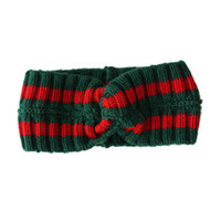Wholesale Red Head Bands - Mix Color Headband Green Red Fashion Show wool Head Band Sweatband