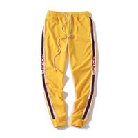 Wholesale sports clothes for men for sale - Mens Designer Jogger Track Pants Fashion Brand Jogger Clothing Side Stripe Drawstring Trousers Brand Sport Sweat Pants for Male