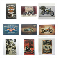 Wholesale coffee decorations - Cheap Price good quality harley Davidson design rerto tin sign home Bar Pub Hotel Restaurant Coffee Shop home Decorative Retro Metal Poster