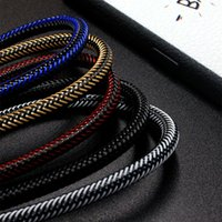 Wholesale Chinese Fishes - 1M 2M 3M Micro USB TYPE C Charging Cable Fish Silk Weaving High Speed USB Charger Cable For iPhone 8 Samsung Cell Phone