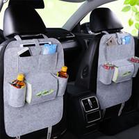 multi-car-halter großhandel-Neue Auto Autositz Zurück Multi-Pocket Aufbewahrungstasche Organizer Halter Zubehör Multi-Pocket Travel Hanger Backseat Organizing