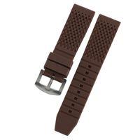 sieht kleine handgelenke an großhandel-Silikonband 18mm / 20mm / 22mm / 24mm kleines Loch atmungsaktives Armband Gummi wasserdichte Riemen für Uhren Armbanduhr Frauen Männer
